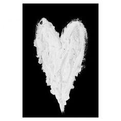 59 x 90cm White Valentine