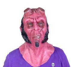HellBoy Latex Mask Full Head Movie Quality: Amazon.co.uk: Toys & Games