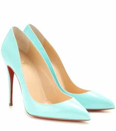 c5972dd607 Pigalle Follies 100 patent leather pumps   Christian Louboutin Bright Shoes,  Colorful Shoes, Shiny