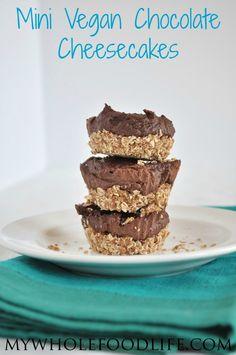 Mini Vegan Chocolate Cheesecake - My Whole Food Life