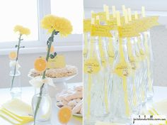 party, sweets, friends, beautifully decorated, lemon party