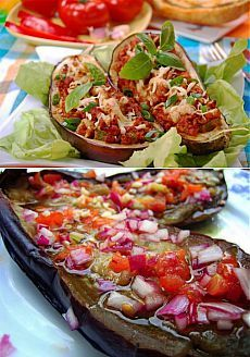 Grilled Eggplant With Garlic-Cumin Vinaigrette, Feta & Herbs Recipe ...