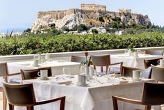 We sat, in this exact spot, to have dinner our first night in Greece.  The rest of the hotel was amazing, too!  Hotel Grande Bretagne, Athens   Photo and Video Gallery