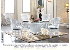 European Classic Set, Round table & 4 chairs #ORWC02. $1162.00 at no1rattanfurniture.com, 5/17/16