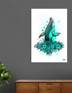Discover «El Florista_Teal», Limited Edition Aluminum Print by Krispin Stock - From $99 - Curioos