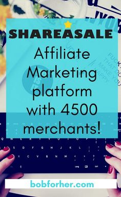 ShareASale affiliate marketing platform with 4500 merchants bobforher.com  Are you a brand-new blog writer just starting out and need a way to monetize your blog site? Are you a veteran blog writer searching for extra earnings?  ShareASale's Affiliate Marketing Platform is the best for blog writers trying to find a way to generate extra earnings from blogging. Earning money as an affiliate used to be improbable; however, nowadays, it's possible and is happening to blog writers like me.