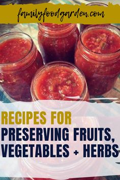 When you have leftover fruits, vegetables or herbs that you don't want to have to throw away, Family Food Garden has a great idea what to do with them. Check out our recipes to preserve these foods for a new twist as well as having another way to eat your favorite fruits, vegetables and herbs. We have recipes for plums, peaches, tomatoes, zucchini, basil, edible, medicinal flowers and more. Download our report… #preservefruits #preservevegetables #preserveherbs Fruit Recipes, Whole Food Recipes, Canned Food Storage, Fruit Preserves, Fermented Foods, Few Ingredients, New Flavour, Fruits And Vegetables, Family Meals