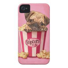 Too cute! Popcorn Pug Case-Mate iPhone 4/4S Case / Cover