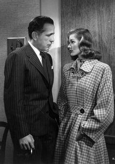 Lauren Bacall et son mari Humphrey Bogart sur le tournage de Dark Passage en 1947