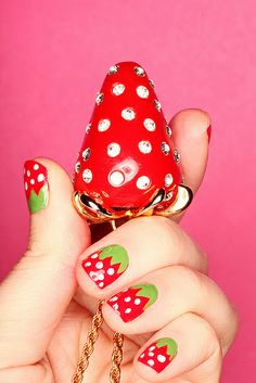 Strawberry Nails by Keiko Lynn