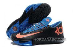 http://www.jordanabc.com/nike-kevin-durant-kd-6-vi-black-blue-orange-for-sale.html NIKE KEVIN DURANT KD 6 VI BLACK BLUE ORANGE FOR SALE Only $90.00 , Free Shipping!