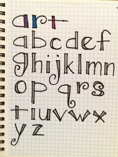 Hand Lettering Fonts Alphabet - Viewing Gallery
