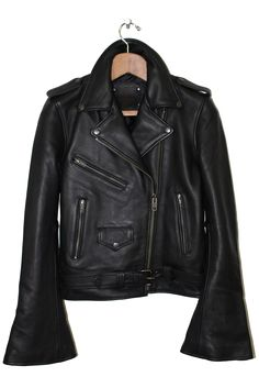 Understated Leather | Bell Sleeve Leather Jacket