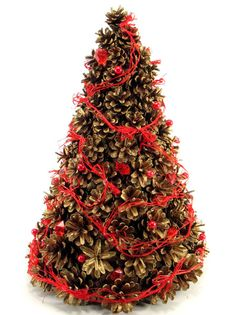 Christmas Decorations – Christmas tree with cones – a unique product by Zielonepalce on DaWanda