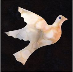 Dove Quilt Applique Pattern Design by HumburgCreations on Etsy