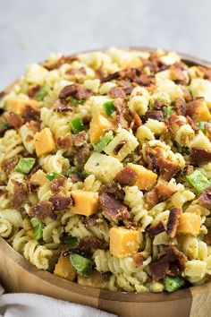 Jalapeno Popper Pasta Salad by The Salty Marshmallow