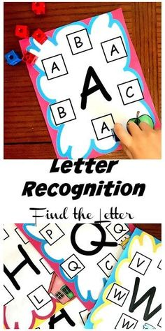 FREE Letter Recognition Find the Letter - this is such a fun, hands on educational activity to help preschool, kindergarten age kids practice identifying alphabet letters. This is great for literacy centers and homeschool