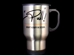 Enjoy your favourite beverages in this stylish thermo travel mug made of stainless steel.  It is designed to keep your drinks hot or cold an extended amount of time. Skeet Shooting, Trap Shooting, Clay Pigeon Shooting, Beverages, Drinks, Drink Holder, Travel Mug, Stainless Steel, Cold
