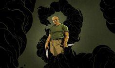 The Man in Black as John Locke by Cesar Moreno