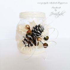 Handmade by Jussstynka: Magiczny blask Napkin Rings, Napkins, Handmade, Home Decor, Hand Made, Decoration Home, Room Decor, Dinner Napkins, Craft