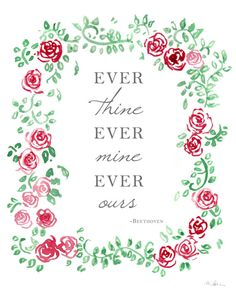 Ever Thine Ever Mine Ever Ours. Beethoven by AmandineRoseDesigns