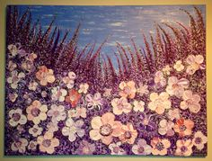 """""""Nostalgy"""" Original, heavy textured, thick impasto painting on canvas by Elena Hajda. 30in x 40in"""