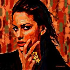 "Saatchi Art Artist ACQUA LUNA; Painting, ""34- Primer Plano."" #art"