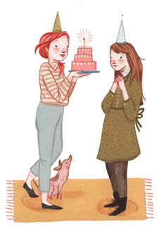 illustrations for Flow Magazine by Rebecca Green