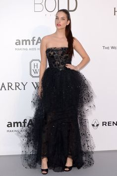 Pin for Later: Catch All the Glamour From the Most Stylish Fashion Party in Cannes Barbara Palvin Wearing Giorgio Armani Privé.