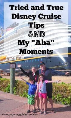 """There are a ton of Disney Cruise tips out there. Come check out the ones that I think are tried and true as well as my """"aha"""" moments"""