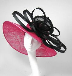 Pink & Black Derby Hat