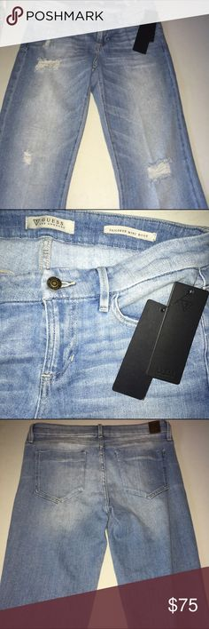 Guess Jeans Tailored Boot Cut Distressed NWT Guess Jeans Tailored Boot Cut Distressed NWT Slim Fit Mid Rise Guess Jeans Boot Cut