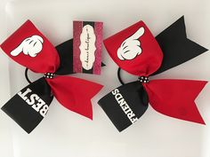 Mickey & Minnie Best Friends Hair Bow