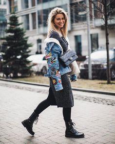 6,100 отметок «Нравится», 14 комментариев — ANASTASIA VOLKOVA (@anastasia_volkova) в Instagram: «Весна в городе! ♥️ сняли сегодня за пару минут с @lerovolkova целое море снимков в новой куртке для…»