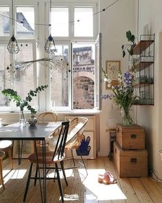 Images and videos of home decor - A mix of mid-century modern, bohemian, and industrial interior style. Home and apartment decor, decoration ideas, home. Rustic Bathroom Designs, Dream Apartment, Apartment Design, Apartment Living, Apartment Therapy, Paris Apartment Interiors, Decorate Apartment, Loft Apartment Decorating, Berlin Apartment