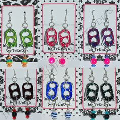 pop can bracelets | ... Soda Pop Aluminum Can Pull Tab Fashion Jewelry Ribbon Bangle Bracelet