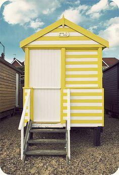 Mellow Yellow beach hut by louisahennessysuɹoɥƃuıʞıʌ, via Flickr