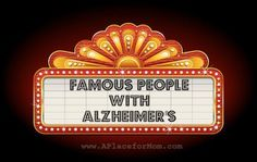 Celebrities like Ronald Reagan and Rita Hayworth have helped increase awareness, but read more about 20 famous people with Alzheimer's. Lewy Body Dementia, Alzheimer's And Dementia, Dementia Care, Broadway Sign, Alzheimer's Walk, Alzheimer Care, Alzheimers Awareness, Career Inspiration, Nurse Quotes