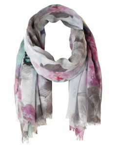 Cleo - Floral Butterfly Print Scarf