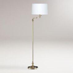 One of my favorite discoveries at WorldMarket.com: Antique Bronze Swing Arm Floor Lamp