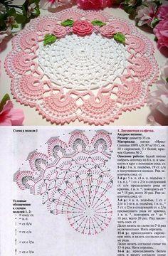 serwetki owalne - Vaida Z - Picasa Web Albums Filet Crochet, Crochet Doily Rug, Crochet Placemats, Crochet Doily Diagram, Crochet Dollies, Crochet Table Runner, Crochet Doily Patterns, Crochet Chart, Thread Crochet