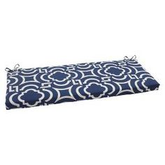 Whitmor Supreme Heavy Duty Garment Rack. Outdoor Bench Cushion   Blue/White  Geometric : Target