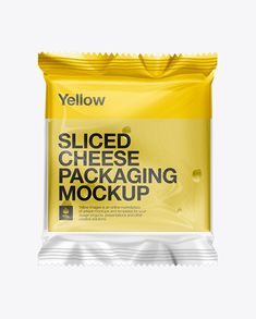 Sliced Cheese Packaging Mockup. Preview