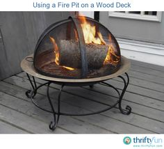 This is a guide about using a fire pit on a wood deck. Most manufacturers recommend that you do not use a fire pit on a wood deck.