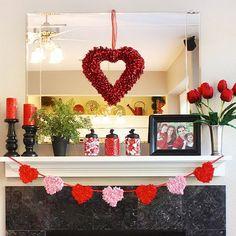 Cool Valentine's Day Mantel Décor Ideas.