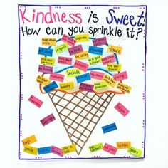 We are sprinkling kindness all over on this Friyay 🎉 ! We have a new student in our class and remembering how to spread kindness was a lesson we needed to revisit. It's amazing how sweet students can be after little reminders like this! Teaching Kindness, Kindness Activities, Preschool Friendship Activities, Anti Bullying Activities, Emotions Preschool, Kindness Ideas, Kindness Bulletin Board, Bulletin Boards, Responsive Classroom