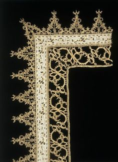 Place of origin: Italy (made)  Date: second half 16th century (made)  Artist/Maker: Unknown (production)  Materials and Techniques: Linen, with cutwork and bobbin lace