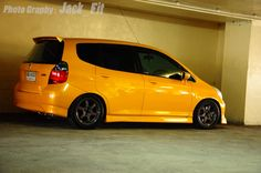 Honda#Fit yellow stance Honda Jazz, Honda Fit, Gd, Dream Cars, Sport, Yellow, Street, Fitness, Ideas