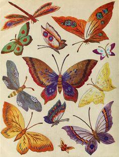 heaveninawildflower: mariposas Bordadas de 'bordado de la flor de Weldon. Publicado (1930?) Por Amalgamated Press, Londres. archive.org