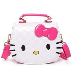 Crossbody Shoulder Bag, Shoulder Handbags, Crossbody Bag, Leather Crossbody, Hello Kitty Handbags, Girls Messenger Bag, Hello Kitty Purse, Cat Bag, Wholesale Bags